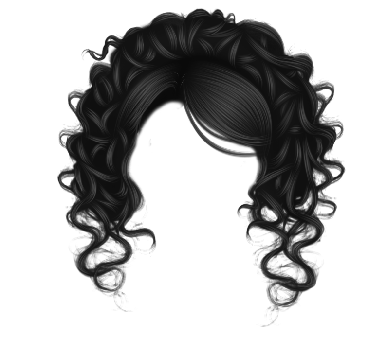Clipart wave curl. Pretty curls black by