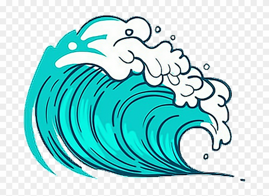 Sea wave blue freetoedit. Clipart waves cute