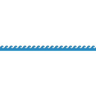 Turquoise divider cliparts zone. Waves clipart banner