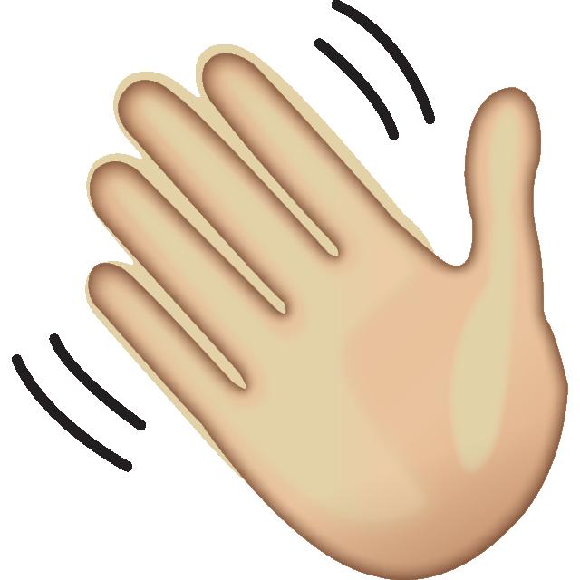 Hello clipart wave hand. Download waving sign emoji