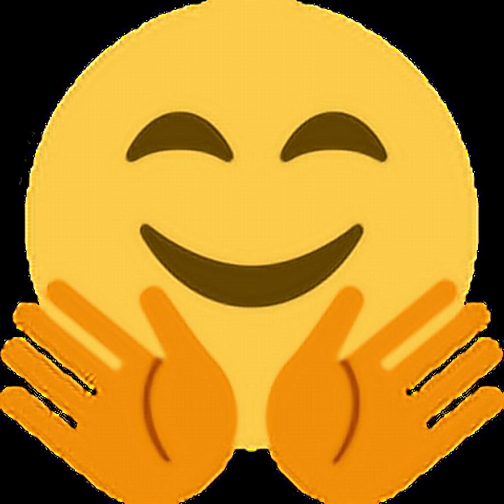 Hands wave hug emoticon. Waves clipart emoji