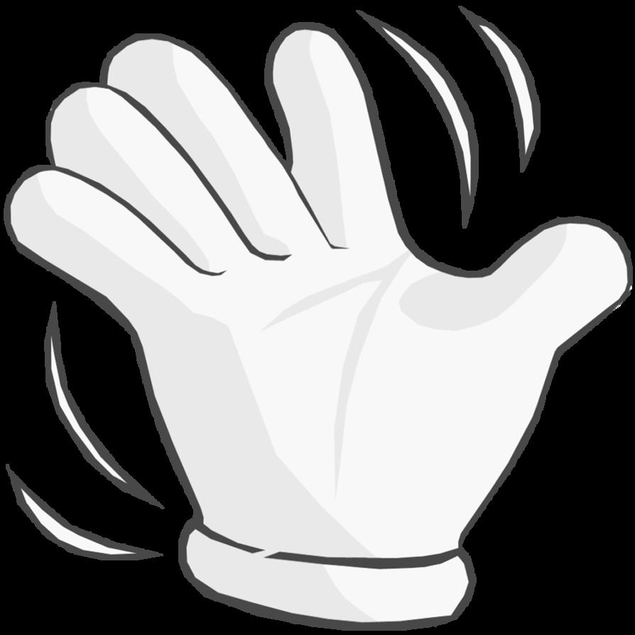 Mario luigi waving hand. Thumb clipart white glove