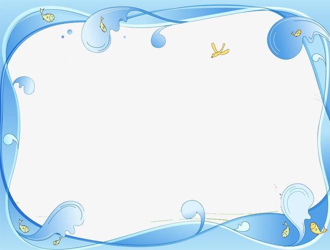 Waves clipart frame. Wave border frames borders