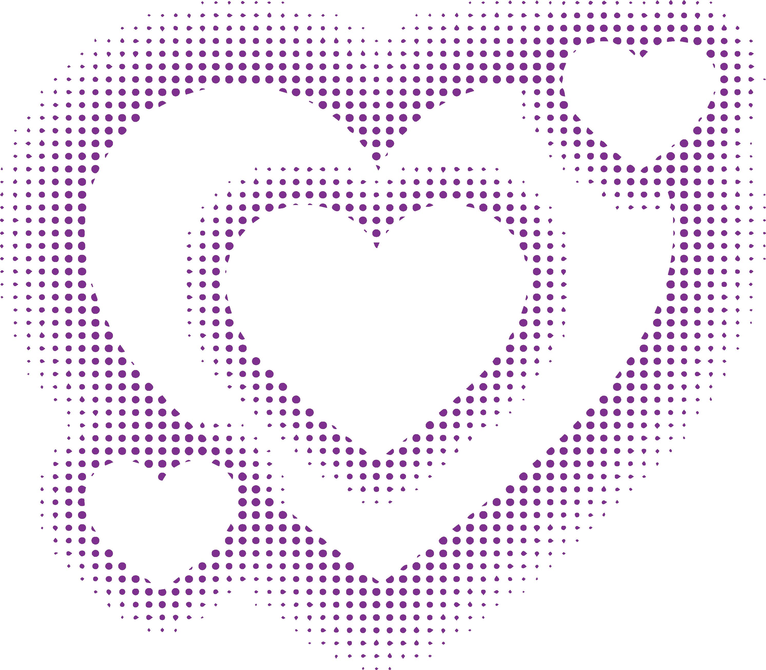 Halftone circle clip art. Heart clipart wave
