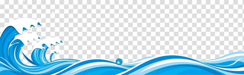 Ocean illustration blue . Waves clipart wind wave