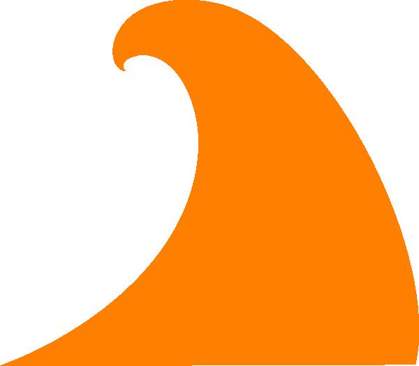 Orange wave clip art. Waves clipart yellow