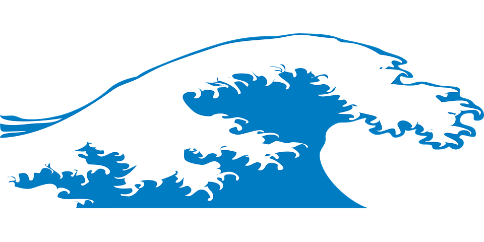 Blue transparent png stickpng. Clipart wave large wave