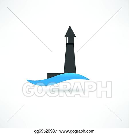 Vector art and wave. Waves clipart lighthouse