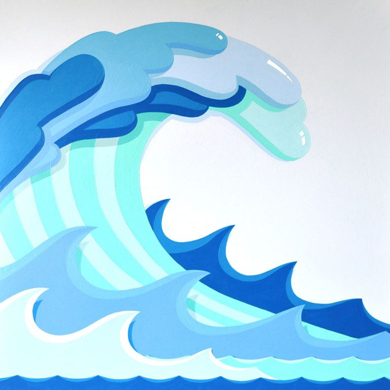 File type mosaic patterns. Waves clipart huge wave