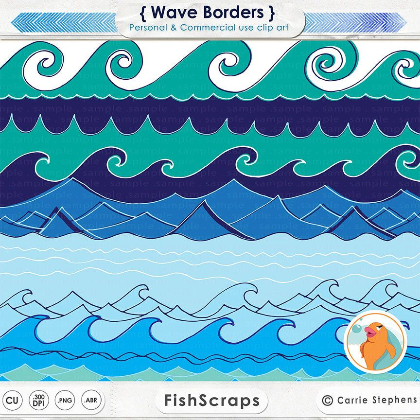 Waves clipart nautical. Wave border water image