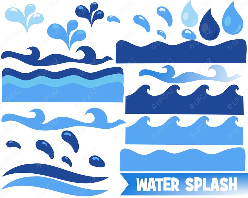 Clipart wave ocean wave. Water sea waves borders