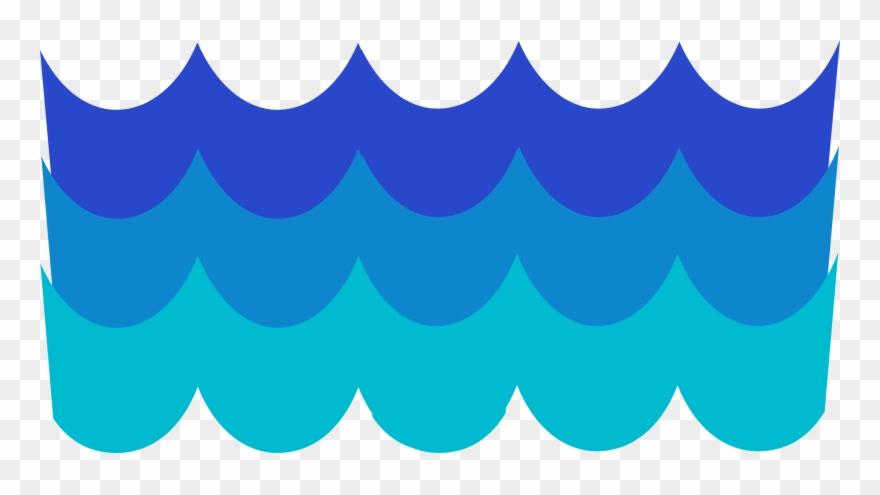 Pattern blue de agua. Waves clipart olas