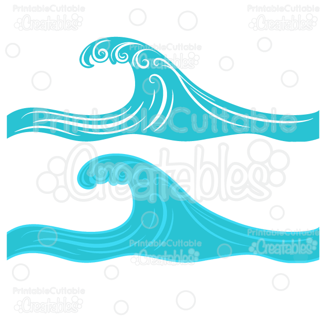 Waves clipart printable. Swirly ocean wave svg