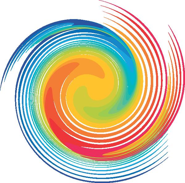 Clipart wave rainbow. Spiral clip art at