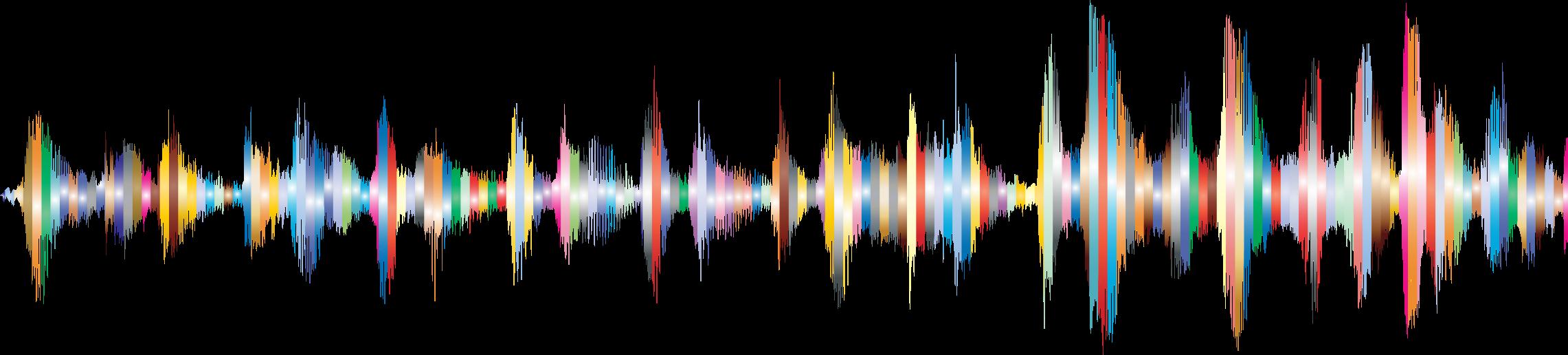 Waves clipart rainbow. Rgb sound wave big