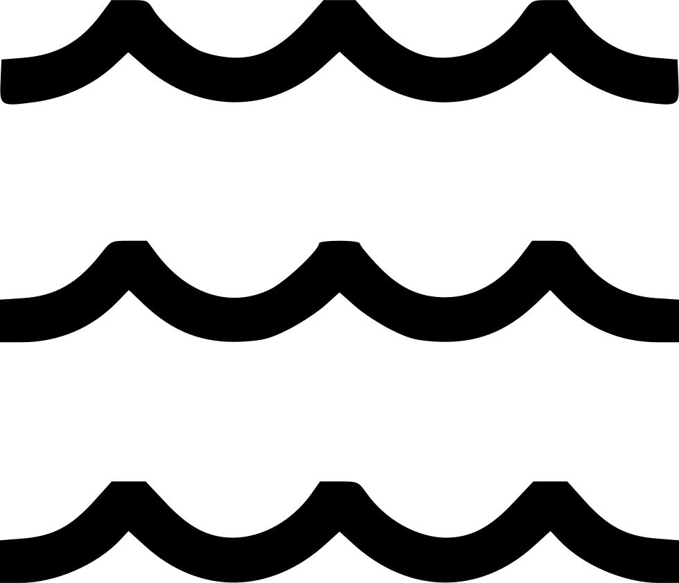 Ocean sea water svg. Waves clipart wave outline