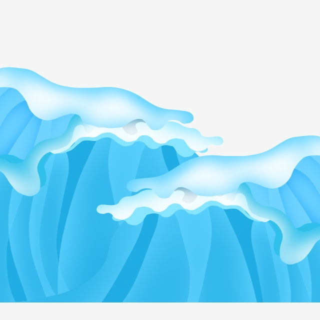 Decoration blue three dimensional. Clipart wave rolling wave