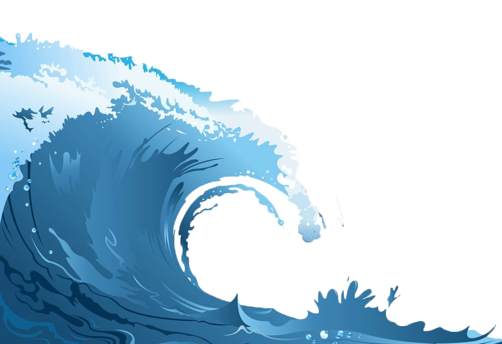 Waves clipart rolling wave. Wind sea the png