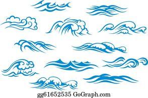 Clipart wave rolling wave. Ocean clip art royalty