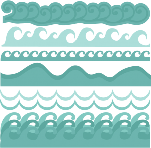 Waves clipart scrapbook. Pin on svgs for