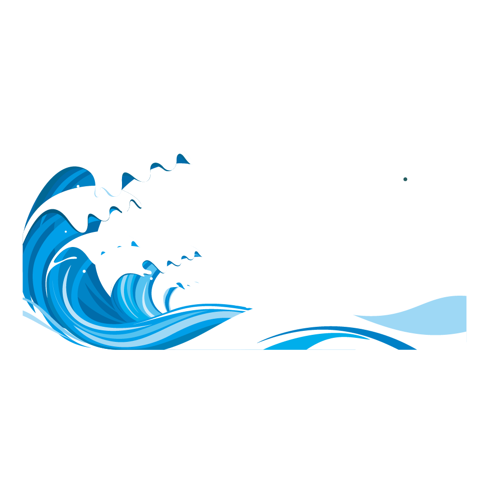 Clipart waves seawater. Blue vector sea pattern