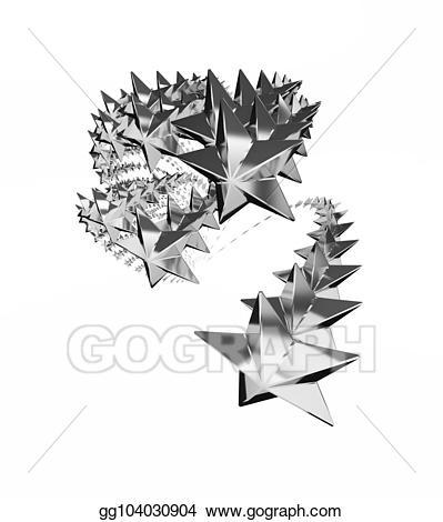 Stock illustration silver illustrations. Clipart wave star