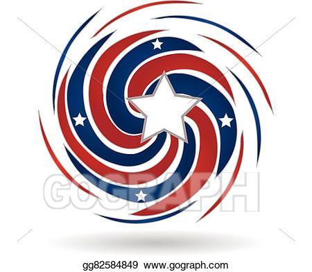 Clipart wave star. Vector splash of american