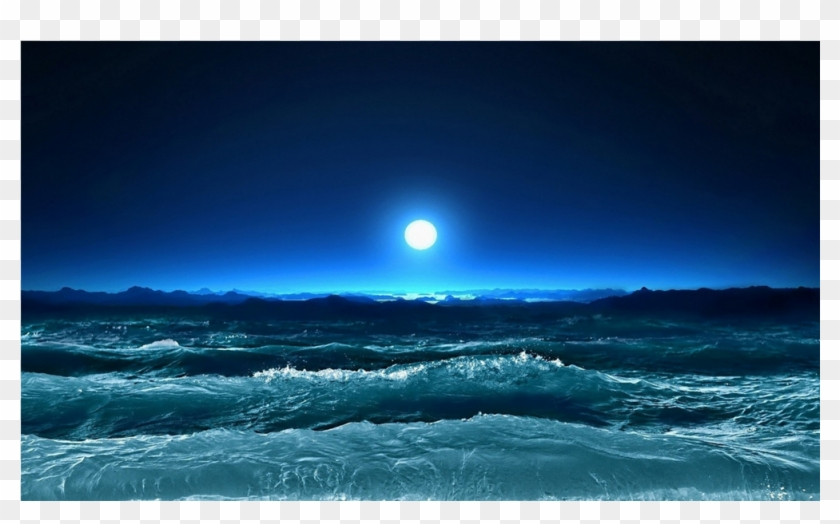 Night ocean facebook cover. Waves clipart stormy sea