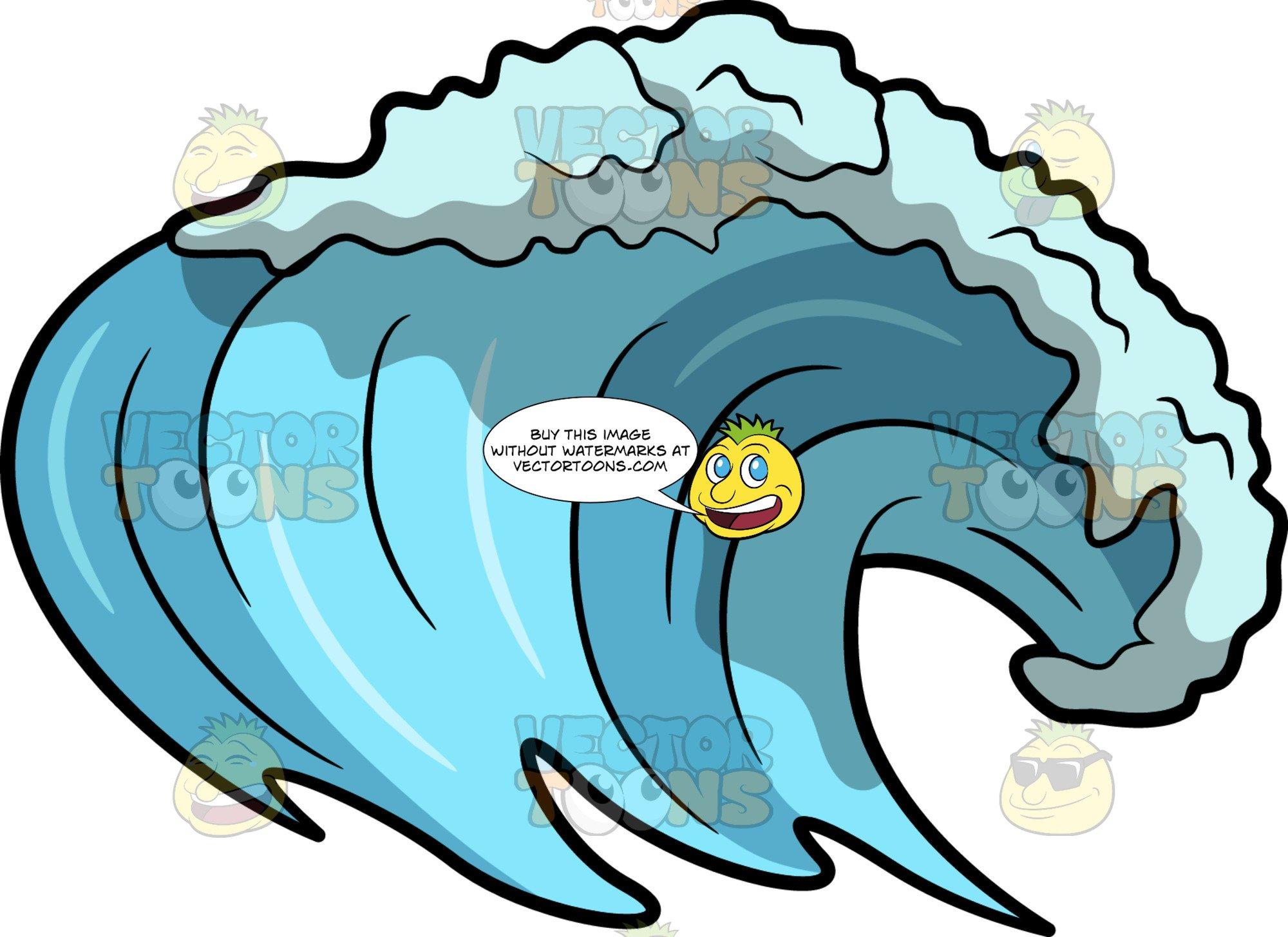 An ocean . Clipart wave surf wave