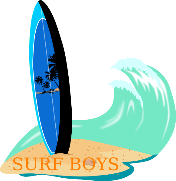 Clip art at clker. Clipart wave surfboard