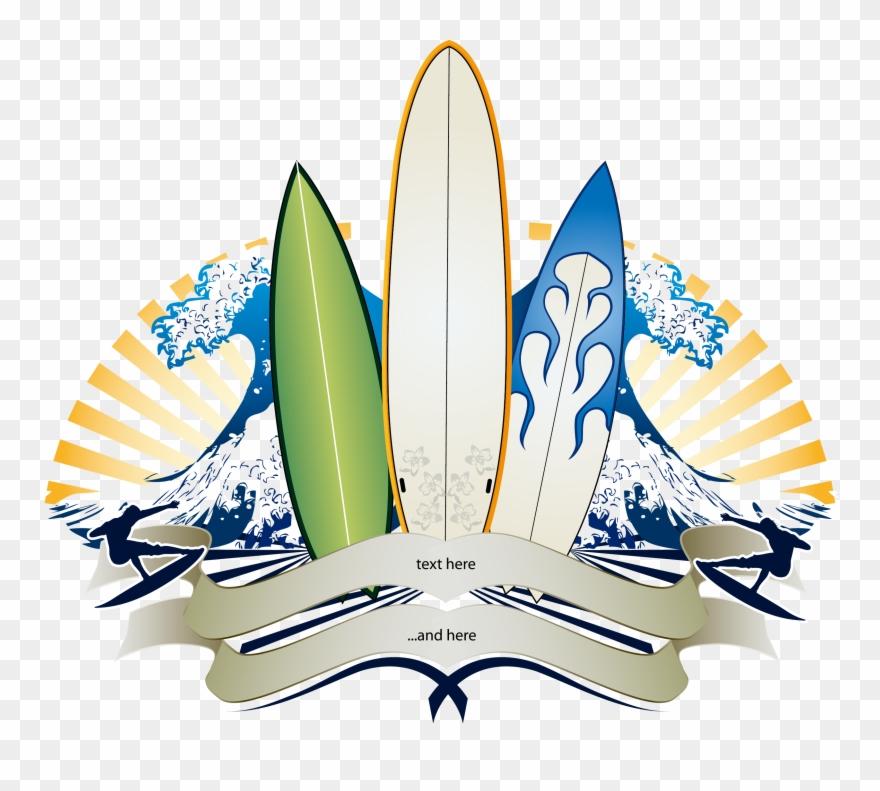 Big surfing banner . Clipart wave surfboard