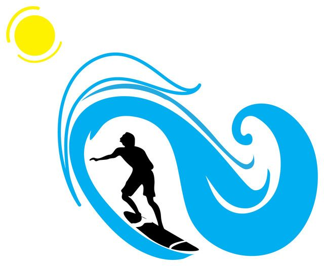 Pin on beach themed. Clipart waves surf wave