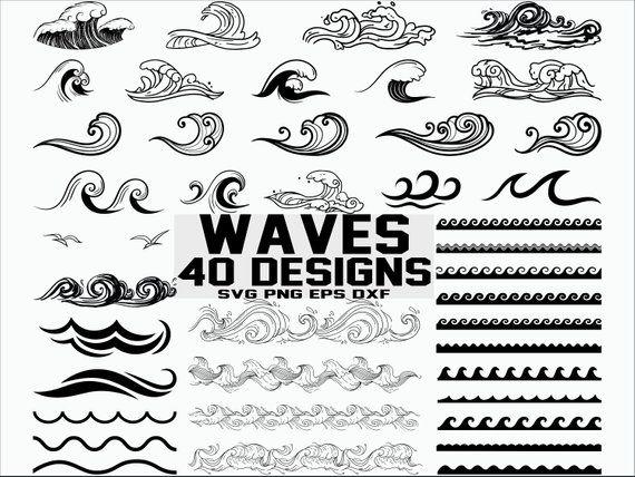 Waves clipart svg. Wave sea ocean cut