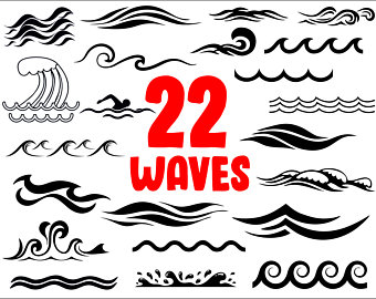 Etsy . Waves clipart svg