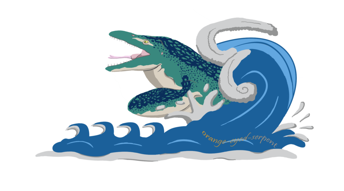 Mosasaurus tidal wave by. Clipart waves tide