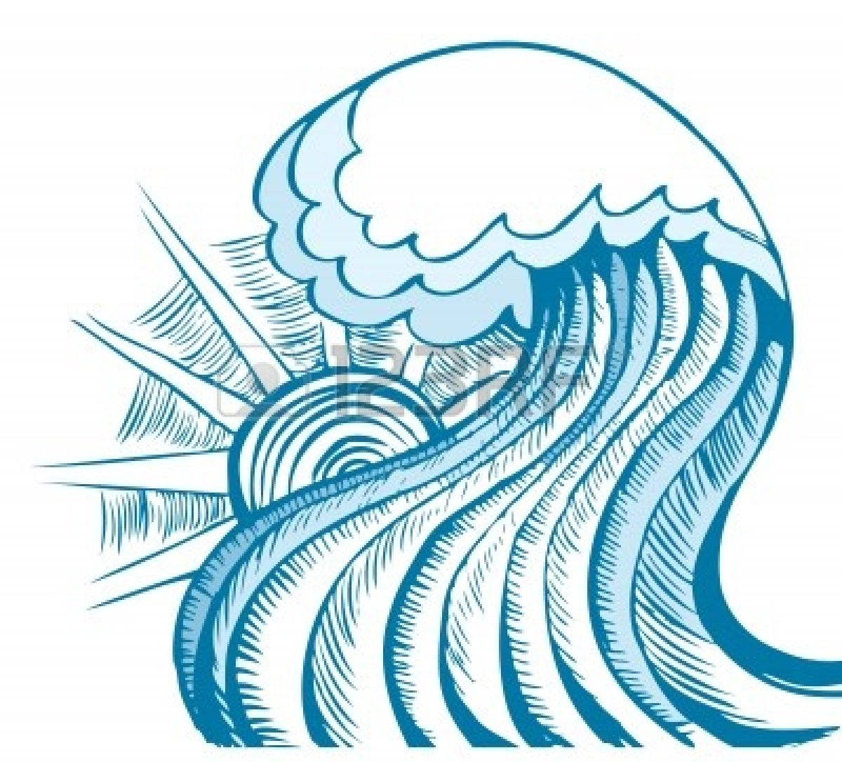 Waves clipart tide. Free tidal wave download