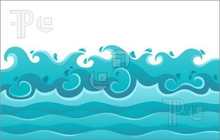 Clipart waves traceable. Ocean background clip art