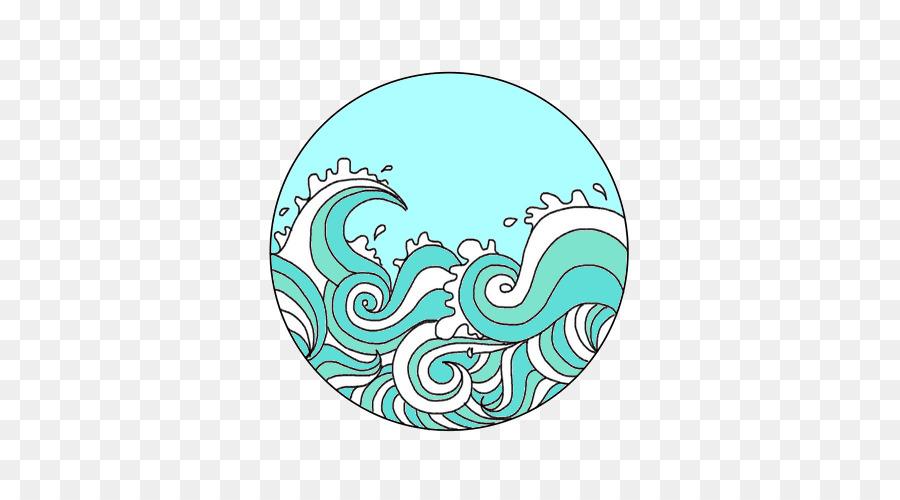 Wind cartoon sea drawing. Clipart waves transparent tumblr