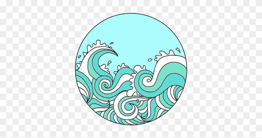 collection of png. Waves clipart transparent tumblr
