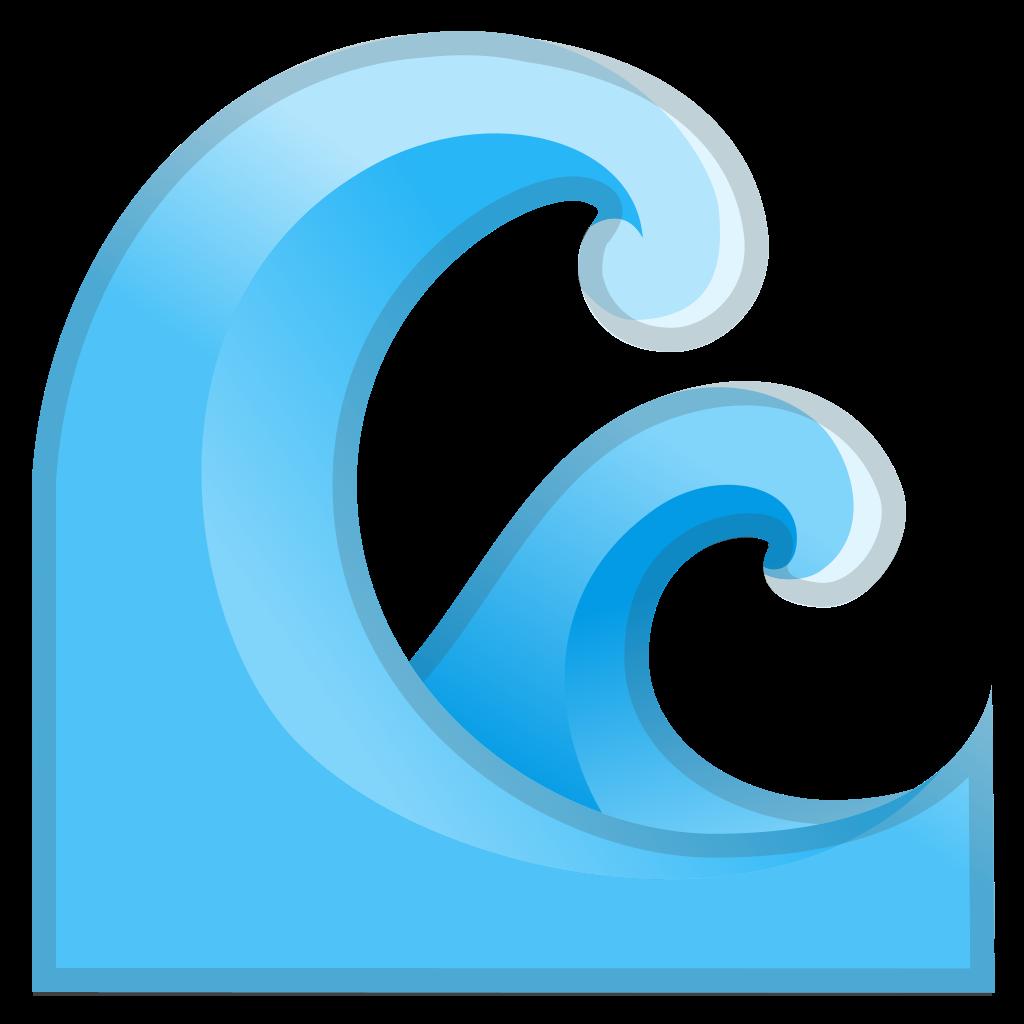Water icon png. Wave noto emoji travel