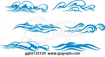 Waves panda free images. Water clipart wave