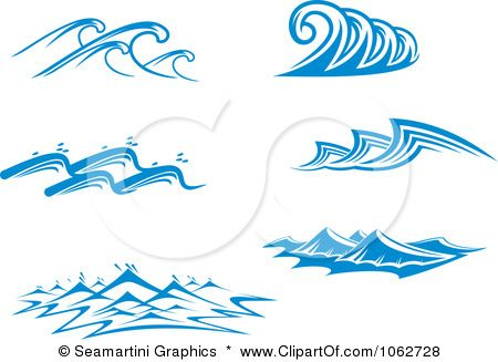Ocean designs color free. Waves clipart wave design