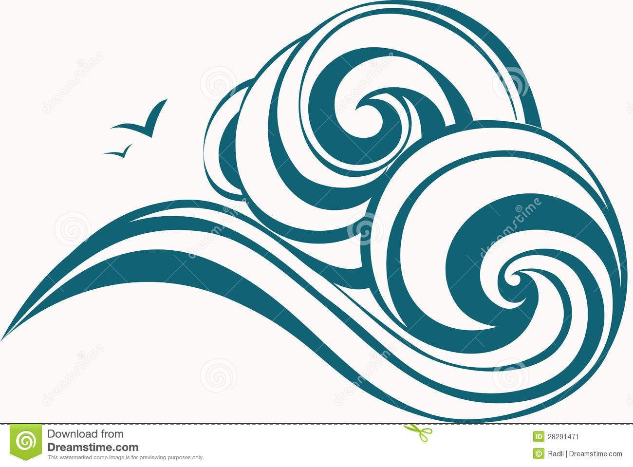 Ocean waves panda free. Clipart wave wave drawing