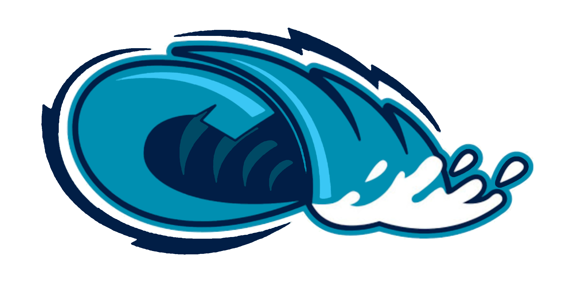 Waves clipart comic. Monster tide pencil and