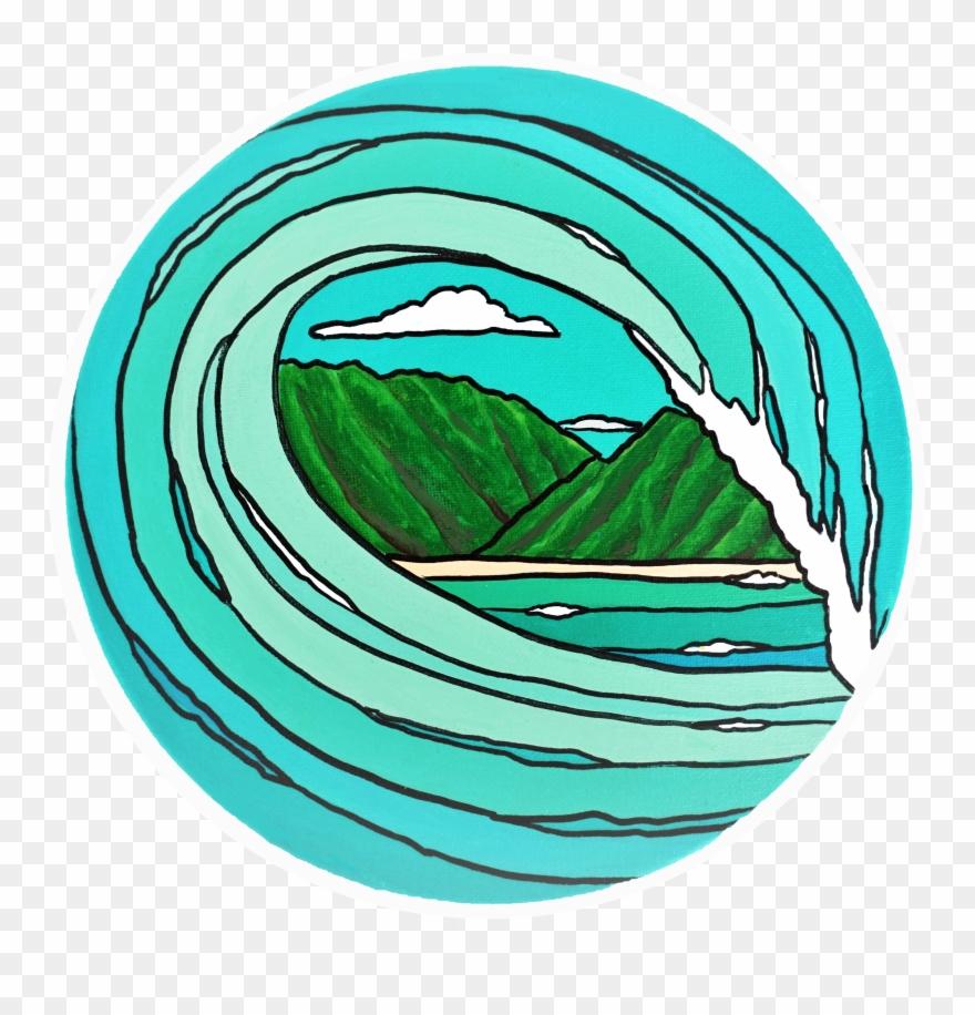 Hawaii tropical surf beautiful. Clipart waves wave hawaiian