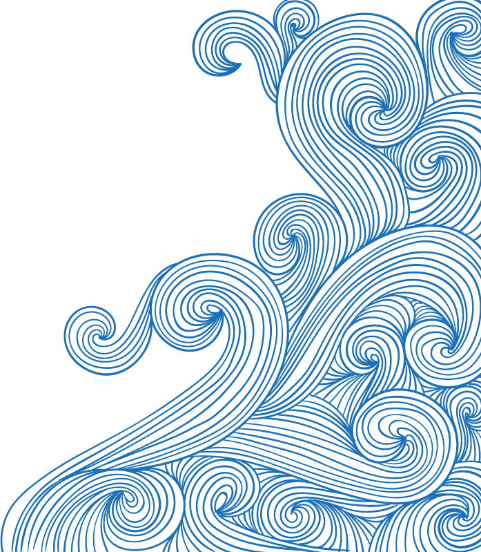 Swirl bluewaves doodle ftestickers. Waves clipart watercolor