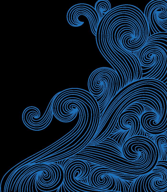 Waves swirl bluewaves doodle. Clipart wave wave hokusai