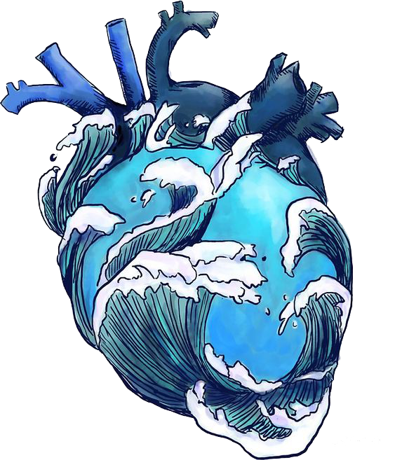 Ftestickers heart greatwave japanese. Clipart wave wave hokusai
