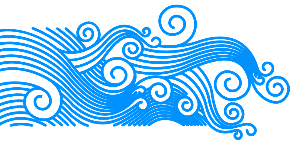 Waves clipart rolling wave. Graphic group pattern summer
