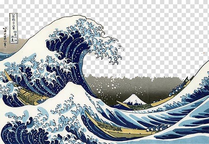 The great off kanagawa. Waves clipart wave japanese